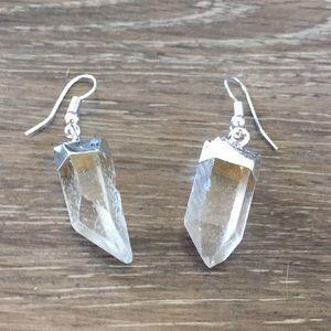 Clear Quartz Dangle Earring, Healing Gemstones